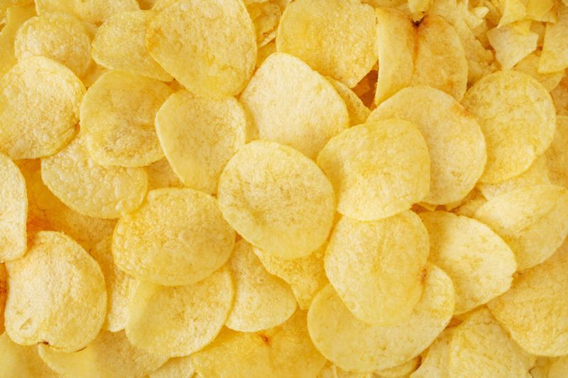 chips, potato, background, texture, snack, golden, crispy, food, yellow, chip, delicious, tasty, nutrition, fast, fat, unhealthy, spicy, fried, crunchy, close, up, view, top, corrugated, pattern, slice, taste, pile, heap, flat, thin, salt, meal, salty, salted, closeup, diet, prepared, calories, junk, crisp, eat, lunch, color, image, horizontal, fatty, group, fresh, macro